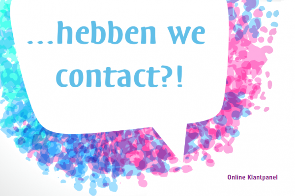 Hebben we contact?